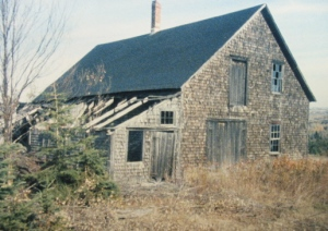Noak Larsson Blacksmith/Woodworking shop before renovations, New Sweden about 1990