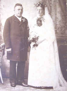 John and Mary Westin wedding. August 19, 1896.