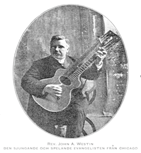 John Westin with his guitar