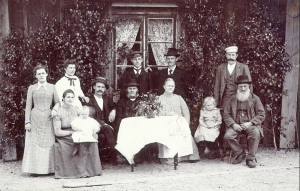 Family in Old Sweden in 1900