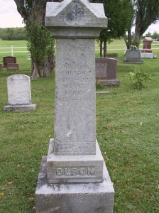 Anders Olson (1836-1932), Capitol Hill Cemetery, New Sweden, ME