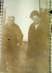 Israel Bodin and Maria Bodin Sundstrom (1845-1937), siblings among the first settlers July 23, 1870 in New Sweden; Photo taken in the 1930's