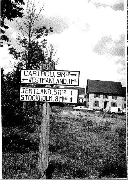 Jepson Road sign in front of Miller's house in 1970