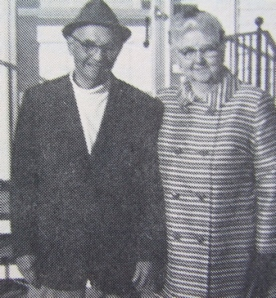 Emma and Otis Peterson, past grange president and New Sweden/Westmanland farmer