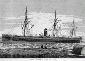 This steamship is similar to those that brought hundreds of immigrants to New Brunswick in the late 19th century.